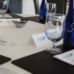 CEO Roundtable badges on a table