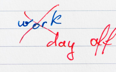 A Day Off a Week … and Leadership